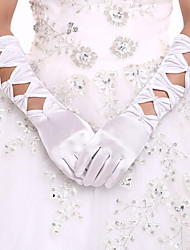 New Party/Evening/Wedding Fingertips Gloves Elbow Length Gloves  Wedding Dress Accessories With DIY Pearls and Rhinestones