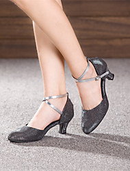 Customizable Women's Dance Shoes Modern Sparkling Glitter Customized Heel Outdoor  Black / Brown / Silver / Gold