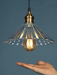 E27 220V 25*17CM 10-15㎡Retro Nostalgia Single-Head Coffee Glass Chimney Droplight Light Led