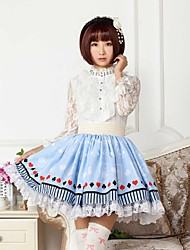 Blue Playing Card  Lolita  Skirt Lovely Cosplay