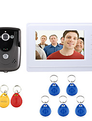 ENNIO 7 Inch Video Door Phone Doorbell Intercom System RFID Keyfob IR Camera