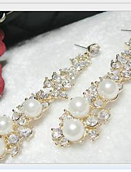 Boucle - en Alliage / Zircon Cubique / Imitation Perle - Mignon / Soirée - Boucle d'Oreille Pendante