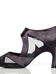 Женская обувь - Атлас / Кожа - Номера Настраиваемый ( Черный ) - Латино