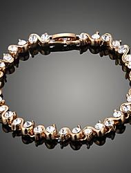 Elanda Women Bracelet , Vintage / Party / Work / Casual Alloy / Cubic Zirconia / Rhinestone / Beaded / Gemstone