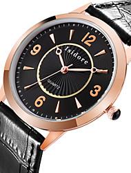 Men's Fashion Genuine Leather Quartz Watches Wrist Watch Cool Watch Unique Watch
