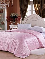 Jacquard-handgemachte Bettwäsche aus 100% Naturseide Quilt Frühjahr / Herbst Decke Seide Nettogewicht 2000g weiß rosa beige