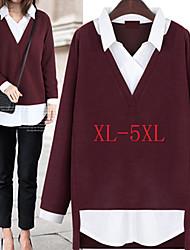 Chemises informelles ( Tricot roman ) Sexy / Informel / Travail Col chemise à Manches longues pour Femme