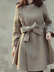 Women's In The Long Woolen Cloth Coat