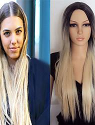 la nouvelle Europe et les États-Unis vente chaude couleur mélangée 1 b / 27 longues perruques synthétiques de cheveux raides