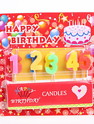 Color Candle 0~9 Digital Candle Birthday Candle