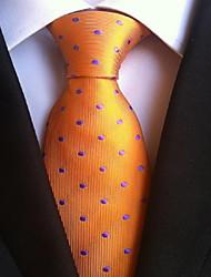 Men Wedding Cocktail Necktie At Work Orange Purple Tie