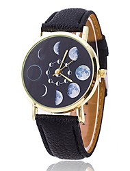 Moon Phases Watch Fashion Unisex Watch Women's Watch Analog Gift Idea Astronomy Space Gift for Men Cool Watches Unique Watches Strap Watch