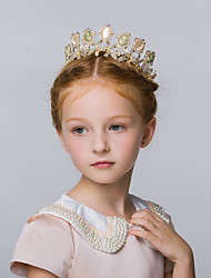 Flower Girl's Alloy Headpiece-Wedding / Special Occasion / Casual Tiaras 1 Piece