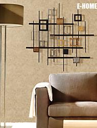 e-FOYER mur d'art de mur en métal décor, petit carré est composé de abstrait décoration murale un pcs