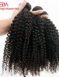 "Peruvian Kinky Curly Human Hair Weave 3 Pieces/lot 8""-30"" Cheap Peruvian Curly Virgin Hair Color 1B"