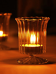 Romantic Design Glass Candle Holder