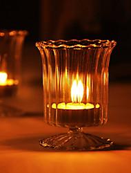 Romantic Design Glass Candle Holder
