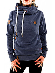 Women's Autumn Stylish Pocket Solid Color Hoodie
