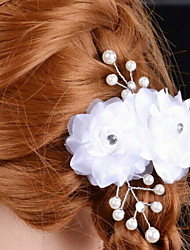 Fashion Women's Satin / Imitation Pearl Headpiece - Wedding / Special Occasion Flowers