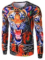 Men's Fashion Tiger 3D Printed Long-Sleeve T-Shirt