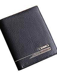 VUITTON® Men Cowhide Formal / Casual / Outdoor / Office & Career Wallet / Card & ID Holder - Brown / Black