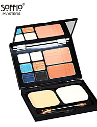 Soffio Makeup Palette Eyeshadow Makeup Palette Blush Trimming Powder Makeup Set Combination