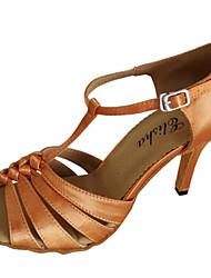 Женская обувь - Атлас - Доступны на заказ (Коричневый) - Латино / Сальса
