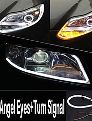 YOBO 6W 450-550LM  60mm Daytime Angel Eyes+Turn Signal White+Yellow Color High Power Car LED light lamp (DC12V/2pcs)