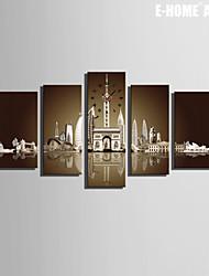 Rettangolare Moderno/Contemporaneo Orologio da parete , Altro Tela
