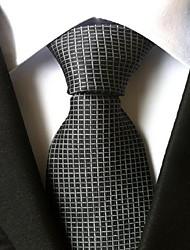 Men Wedding Cocktail Necktie At Work Gray White Tie