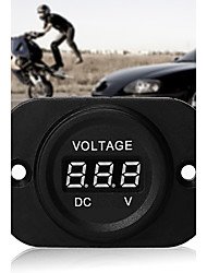 Car Motorcycle Power Monitor Digital Red LED Voltmeter Volt Meter DC 4-26V