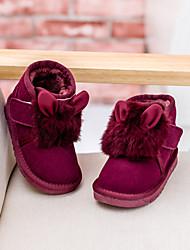 Zapatos de bebé - Botas - Exterior / Vestido / Casual - Ante - Negro / Bermellón