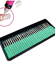 Nail tools grinding nail drill machine grinding head grinding head kit 30 metal rod mill Manicure Art File Tool