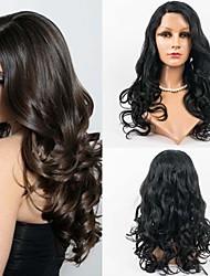 24inch 100% Human Hair Lace Front Brazilian Virgin Hair Wavy Wig  for Women