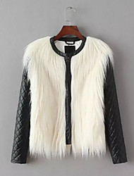 Women Faux Fur / Faux Leather Outerwear , Lined