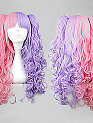 Colorfully  Sythetic Wave Wigs Hair Extensions Hot  Style For Cosplay