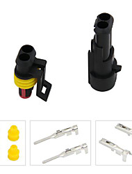 20 Kit 2 Pin Way Waterproof Electrical Wire Connector Plug