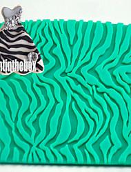 Полосатый леопард печать текстура зернистость печать выпечка DIY силикон шоколад сахар торт плесень цвет случайный