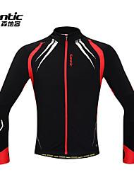 Santic Men's Cycling Jacket / Cycling Jersey Long Sleeve Warm Fleece Windproof Cycling Jacket Spandex+Fleece C01023R