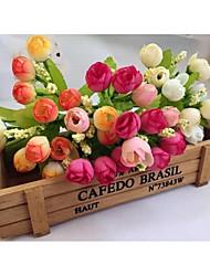 Polyester Roses Fleurs artificielles