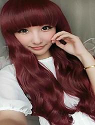 mejores pelucas sintéticas venta hermosa 99j color de cosplay