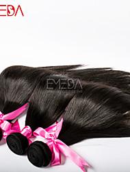 3pcs / lot não transformados virgens seda cabelos eurasian retas extensões de cabelo humano natural preto 8 '' - 30 '' cabelo tece bundles