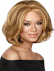 Cheap Price  Women Lady To European And America Deep Blonde Synthetic Wigs