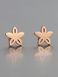Earring Stud Earrings Jewelry Women Wedding / Party / Daily / Casual Stainless Steel 2pcs Gold / Rose / Silver