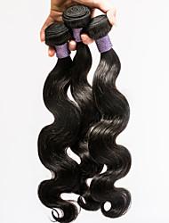 hot sell Mechas grau 7a onda do corpo cabelo virgem malaio 100% não transformados 3pcs cabelo virgem / 8-30inch monte