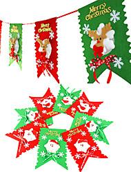 Natale appeso bandiere forma di Babbo Natale per la festa vacanze casa deracotion