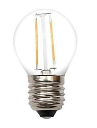 2w e26 / e27 ampoules de filament led g45 2 cob 80-120lm blanc chaud décoratif ac 220-240 v