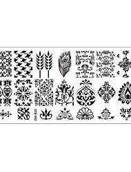 5pcs 12cmX6cm Nail Art Stamping Plates Creative Design Polish Print Manicure Template Tools (OM-B16 to OM-B20)