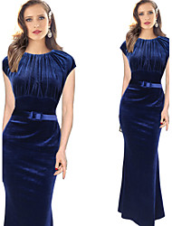Vita Women's Plus Size Vintage/Sexy/Bodycon/Casual/Party Maxi Winter Dresses