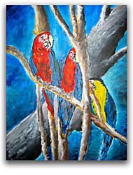 IARTS®Parrot Bird Handmade Painting on Canvas 2015 New Design